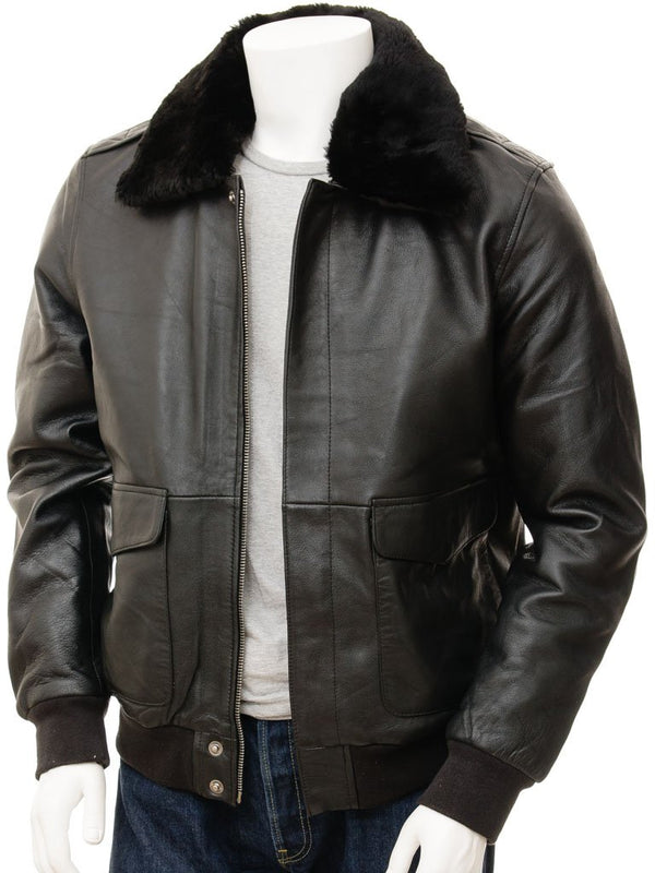 Men's A2 Leather Flight Jacket