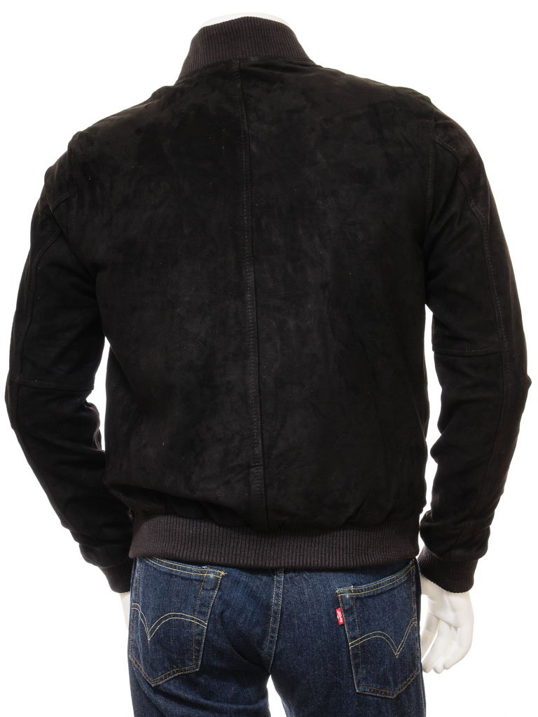 Men's Simple Classic Leather Bomber Jacket