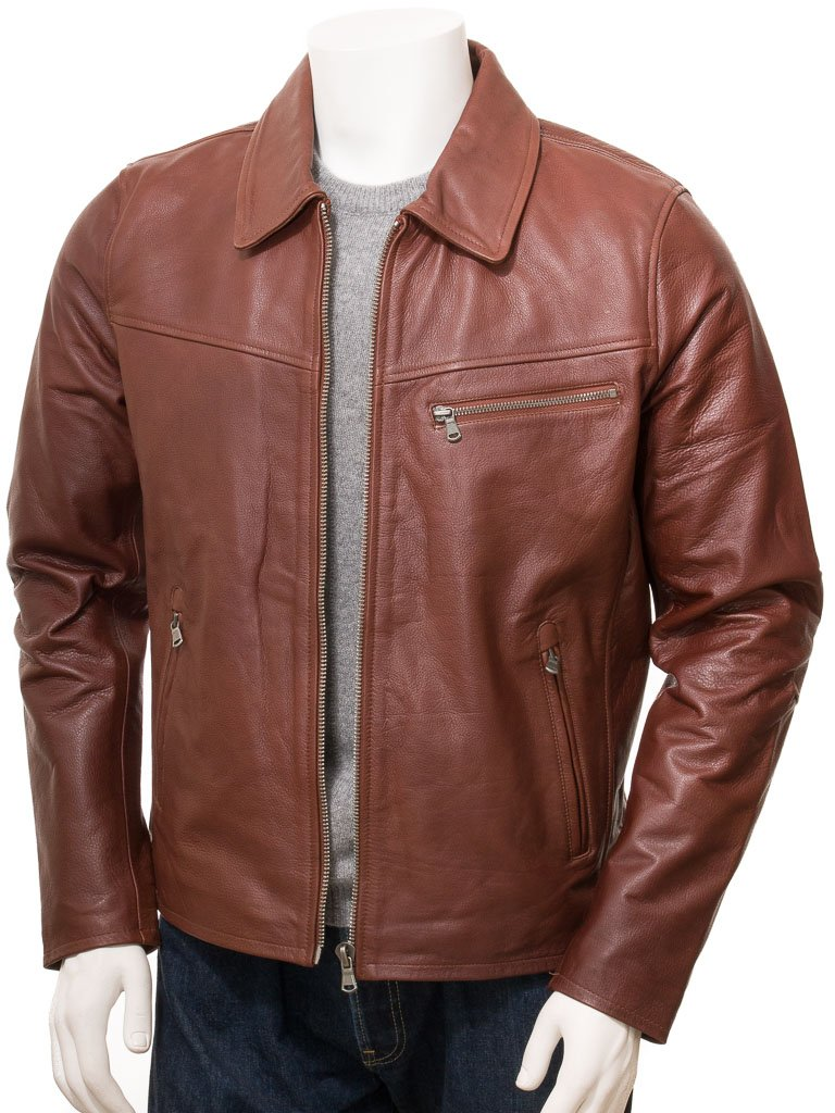 Men's Straight Leather Jacket