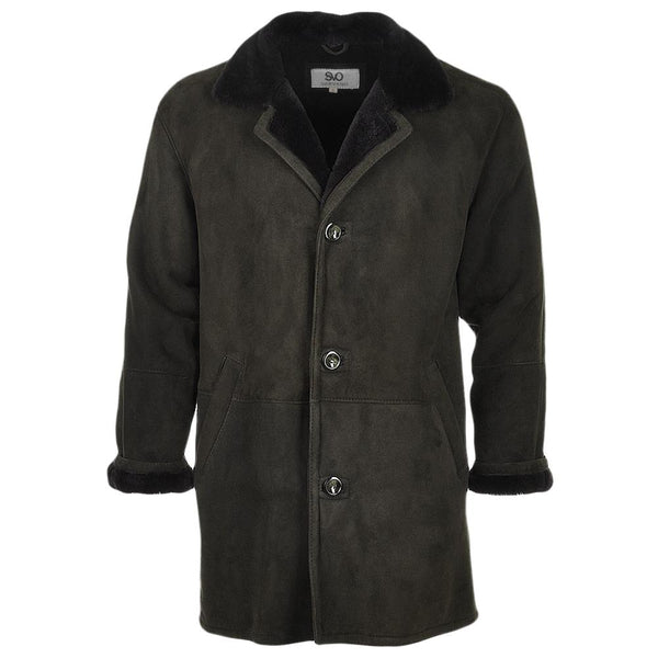 Suede Leather 3 Button Car Coat