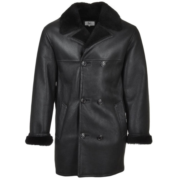 Double Breasted Sheepskin Fur Leather Coat