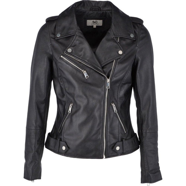 Women's Cowhide Leather Motorcycle Jacket