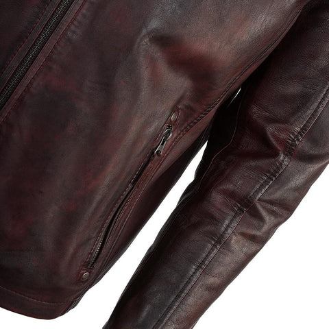 Men's Quilted Leather Biker Jacket