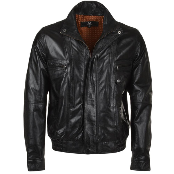 Men's Leather Bomber Flight Jacket