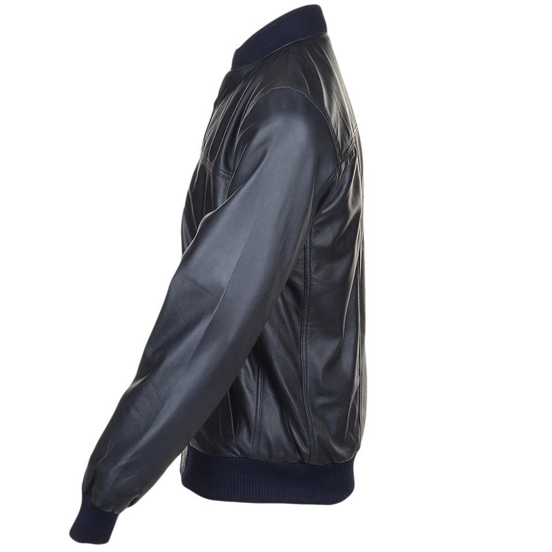 Men's Lambskin Leather Bomber Jacket