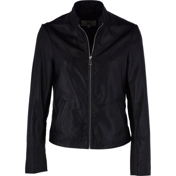 Women's Straight Leather Biker Jacket