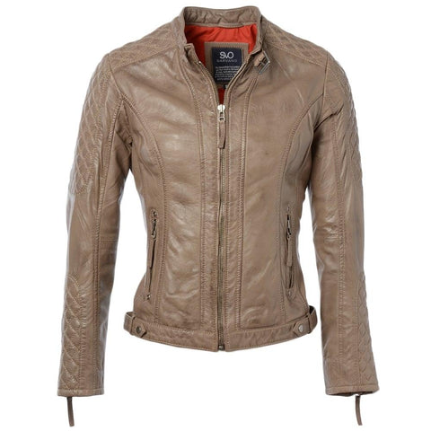 Women's Leather Short Straight Jacket