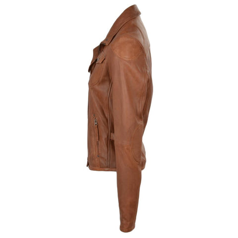 Women's Leather Western Country Rodeo Southern Shirt Jacket