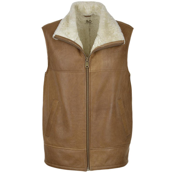Women's Sheepskin Leather Vest