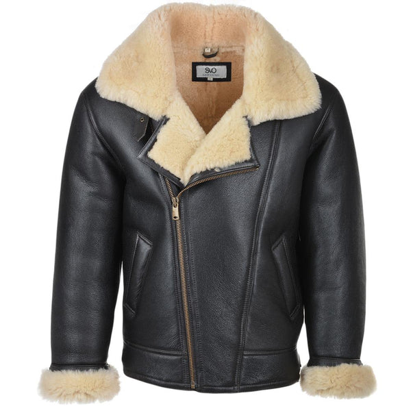 Sheepskin Leather Flying Pilot Jacket