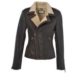 Women's Sheepskin Leather Pilot Aviator Jacket
