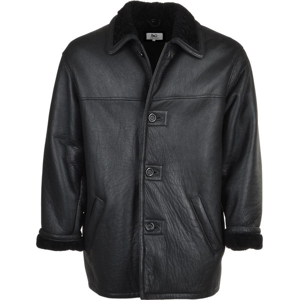 Sheepskin Leather 3 button Car Coat