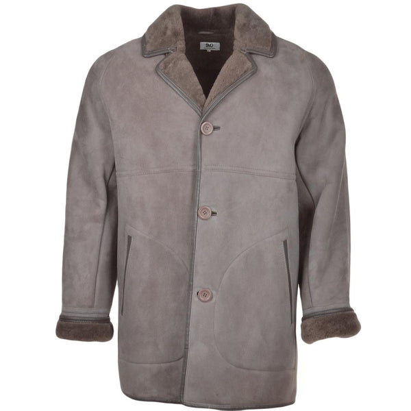 Men's Sheepskin 3 Button Down Car Coat