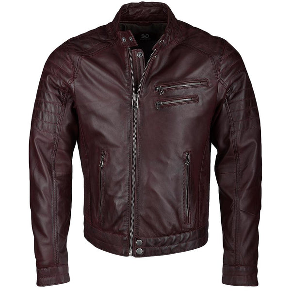 Men's Leather Biker Racer Moto Jacket