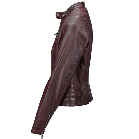 Women's Ultra Chic Biker Moto Leather Jacket