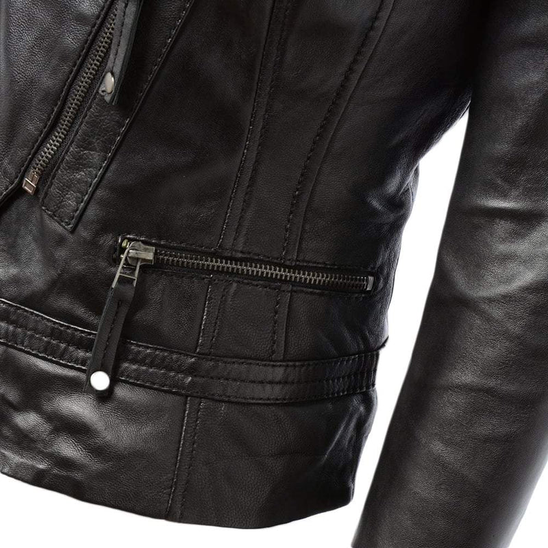 Women's Leather Motorcycle Jacket