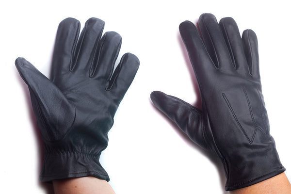 unisex unlined leather gloves black