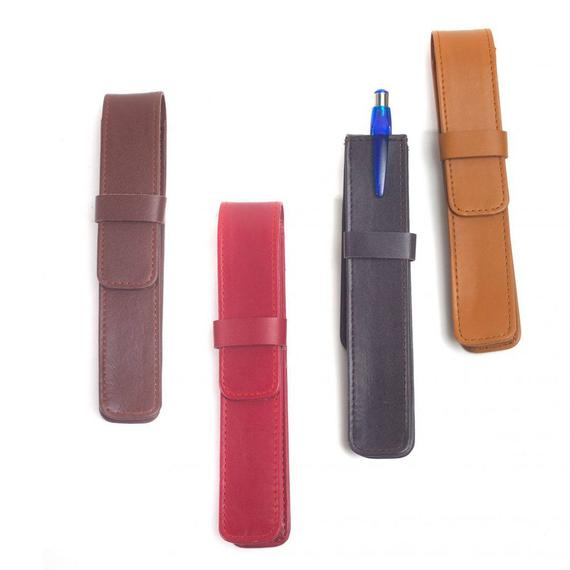 Winston Lambskin Leather Single Pen Case (5 Colors Available)
