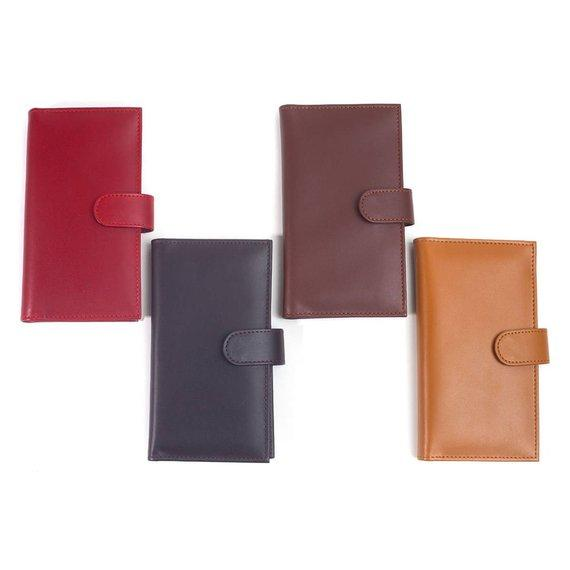 Women's Madeline Calf Skin Leather Checkbook Wallet