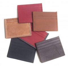 Gio Handcrafted Luxurious Italian Leather Unisex 6 Card Holder Wallet With Complementary Bill Slot
