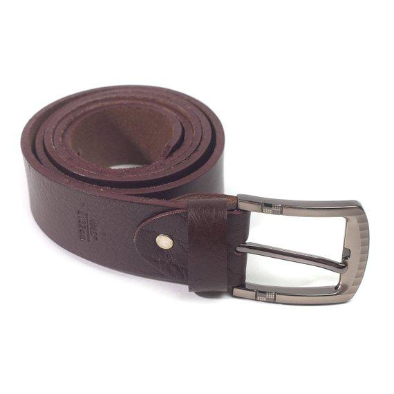 Jacob Men's Thick Full Grain Leather Handmade Belt in Chocolate Color