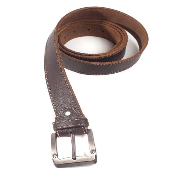 Lorenzo Men's Handmade Italian Leather Dark Brown Belt