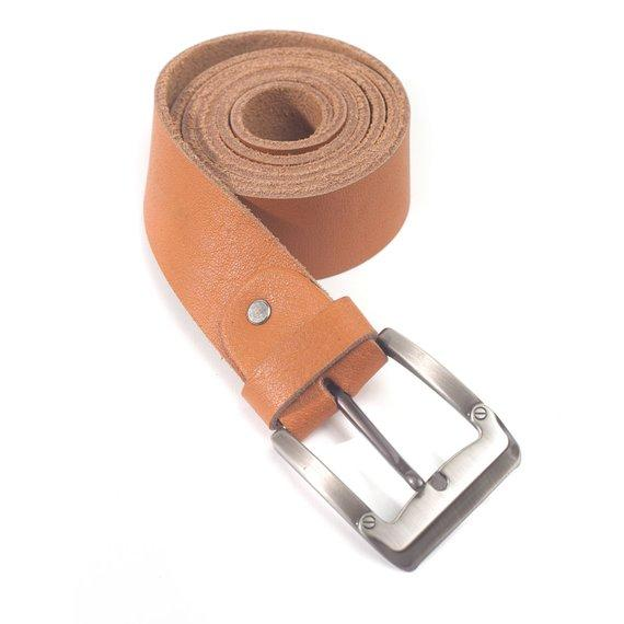 Maxwell 1 ½' Vintage Buffalo Full Grain Men's Leather Handmade Tan Belt