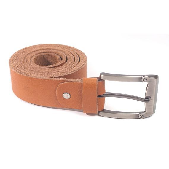 Men's Leather Handmade Tan Belt