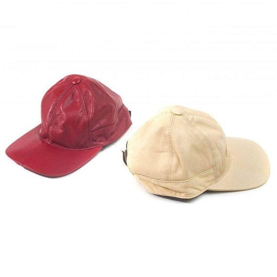 Juliette lambskin leather baseball cap for women