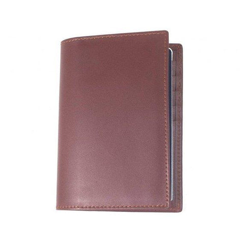 Arcadia Soft Leather Passport Holder Unisex Wallet Brown color