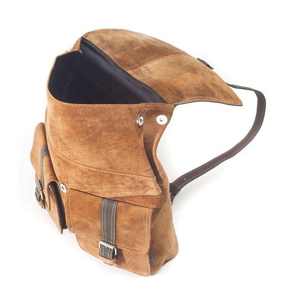 Handmade Top Grade Leather Laptop Unisex Backpack Tan color