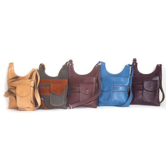 Women's Rico Soft Handmade Lambskin Leather Crossbody Bag