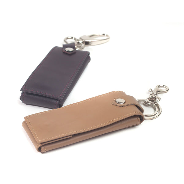 Tuscany Soft Lambskin Leather Keychain Case