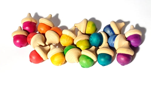 Rainbow Dipped Acorns