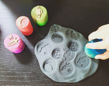 Load image into Gallery viewer, Take me to the Moon Playdough Stampers