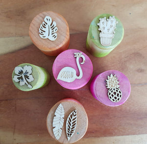 Tropical Playdough Stampers
