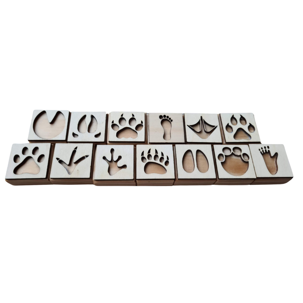 Animal Footprint Play Dough Stampers