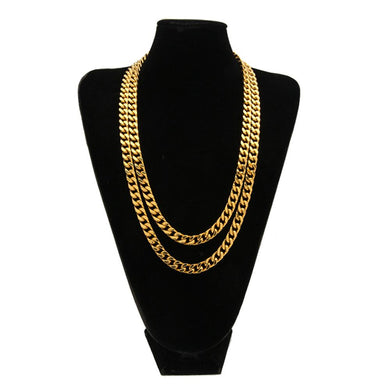 hip hop 9mm Cuban necklace chain 316L stainless steel 4 surface grinding chain cuban link chain - QJ jewelry