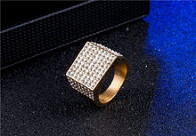 full diamond ring Trend jewelry supply Diamond men's ring - QJ jewelry