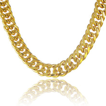 Men's plating 24K gold necklace 10M side chain - QJ jewelry