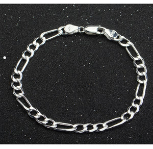 Pure S925 sterling silver necklace men and women hex son chain fashion accessories - QJ jewelry