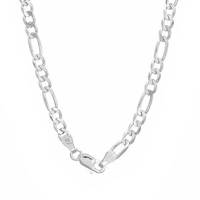 Silver Chains 4mm Figaro Link Solid .925 Sterling Necklace for Men and Women 16 Inch- 30 Inch