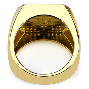 Geometry Hip Hop Men's Ring Gold Plated Micro Inlay Gold Ring Fashion Jewelry - QJ jewelry