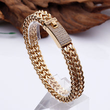 Diamond-inspired hip-hop style bracelet Men's titanium steel bracelet Hip-hop jewelry - QJ jewelry