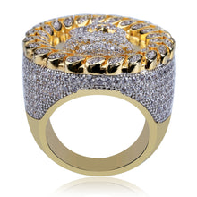 Jesus avatar men's ring full micro-studded zircon hiphop ring jewelry - QJ jewelry
