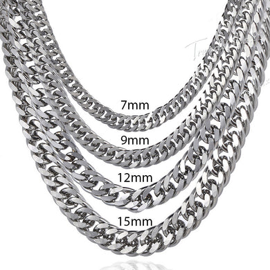 Street shoot personality single product stainless steel necklace chain men's jewelry necklace - QJ jewelry