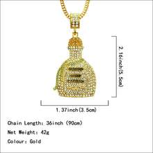 Korean version of the 3D cute perfume bottle pendant necklace with Diamond - QJ jewelry