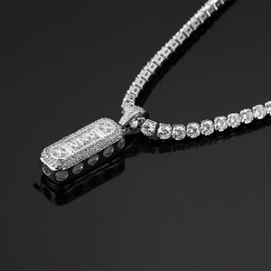 XANAX Zircon Cutout Pendant HIPHOP Hip Hop Jewelry Necklace - QJ jewelry