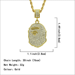 Fashion full diamond pendant accessories New necklace hip hop necklace - QJ jewelry