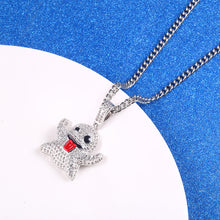 Full diamond zircon ghost emoji ghost pendant - QJ jewelry